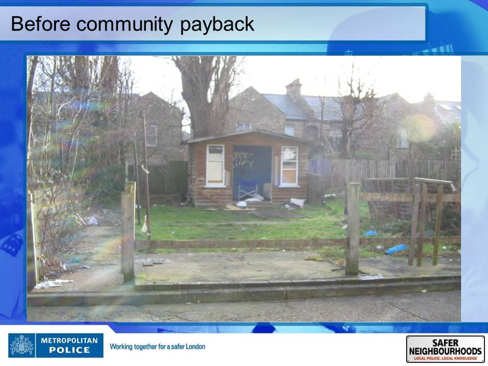 Before community payback