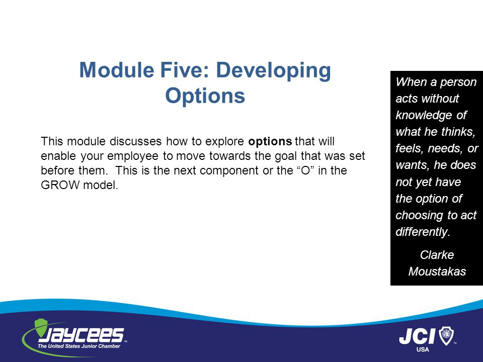 Module Five: Developing Options