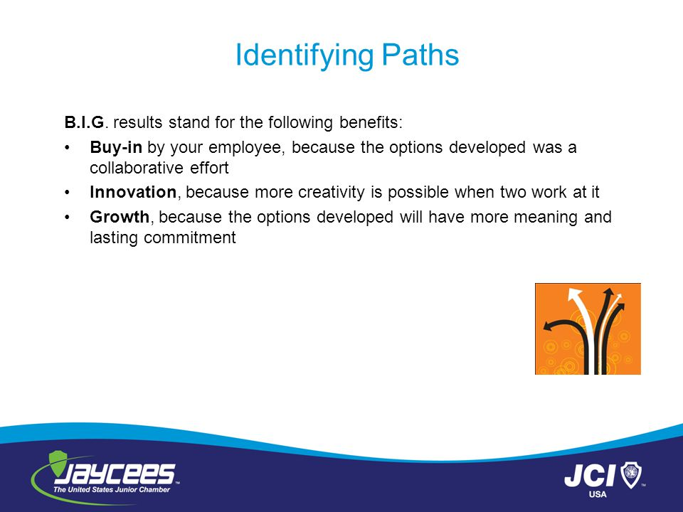 Identifying Paths B.I.G. results stand for the following benefits: