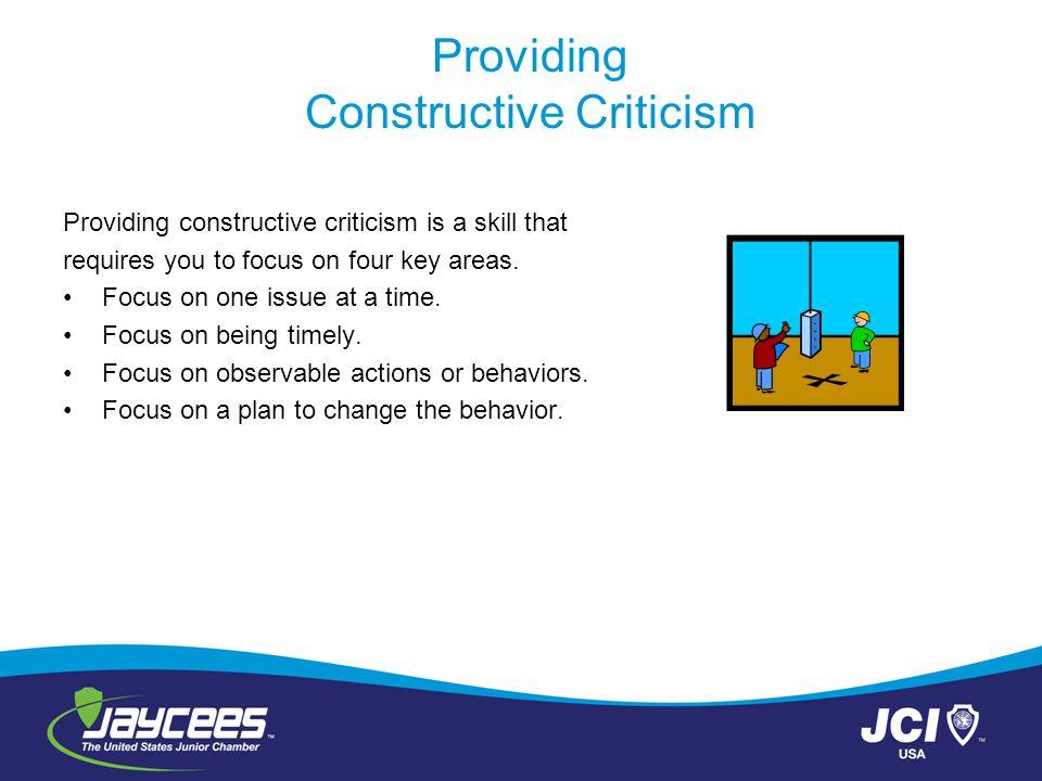 Providing Constructive Criticism