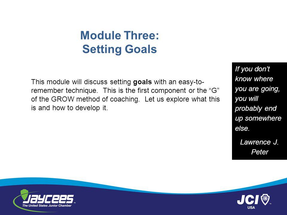 Module Three: Setting Goals