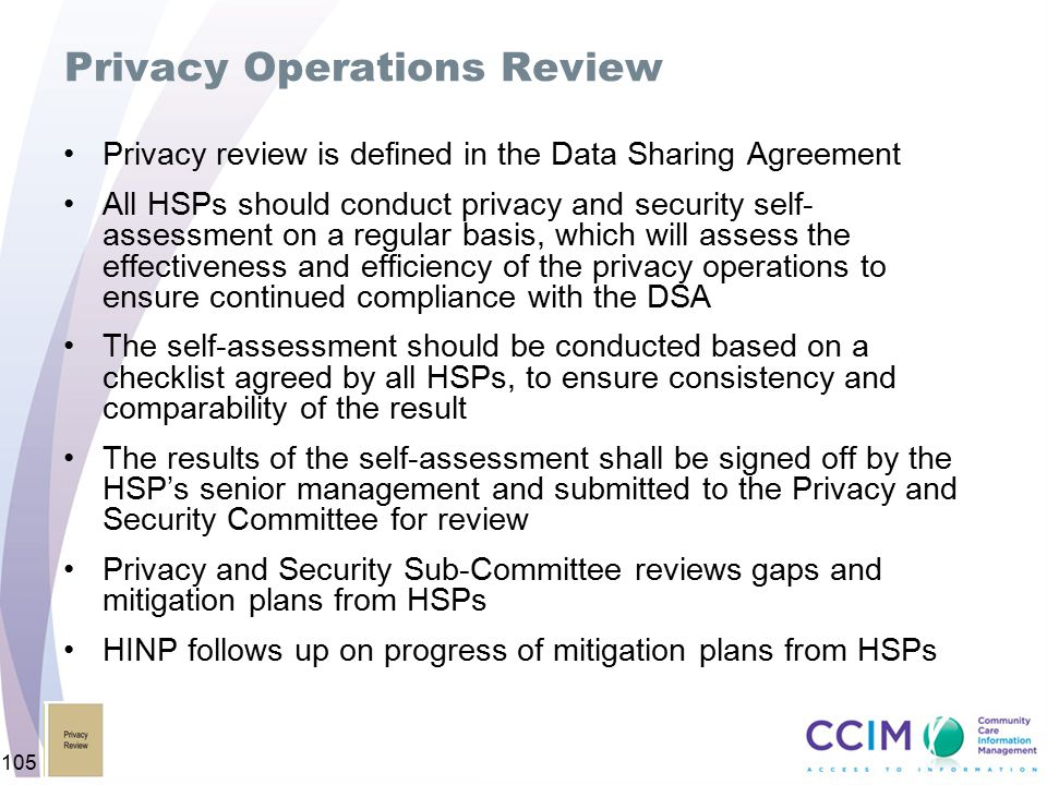 Privacy Operations Review