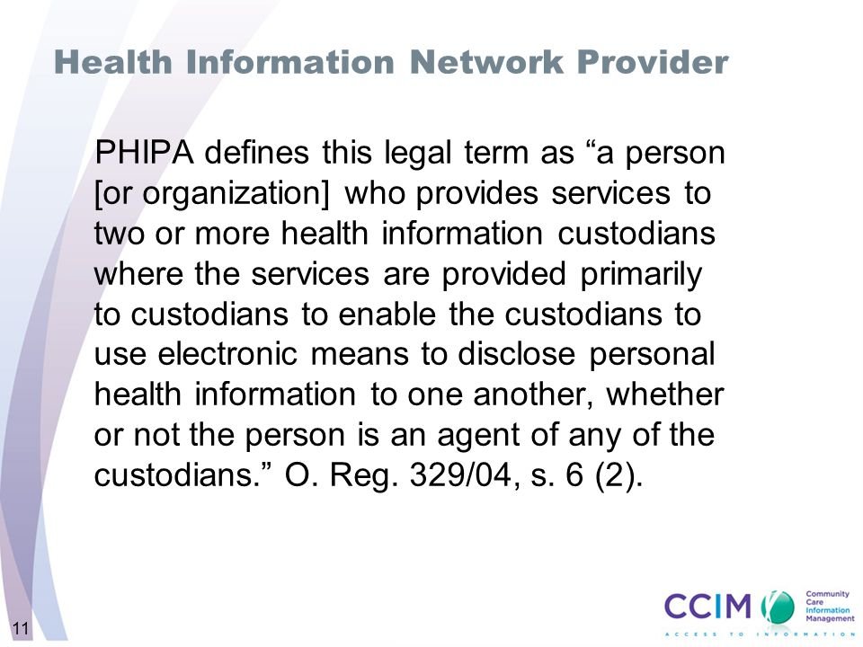Health Information Network Provider