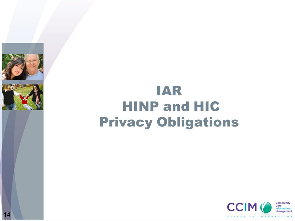 IAR HINP and HIC Privacy Obligations