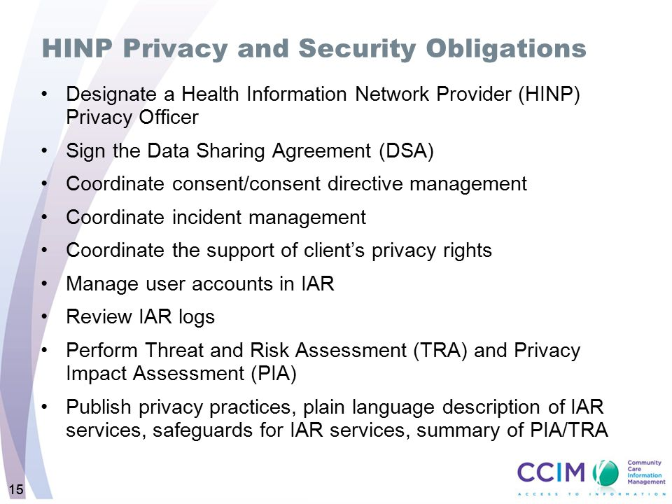 HINP Privacy and Security Obligations