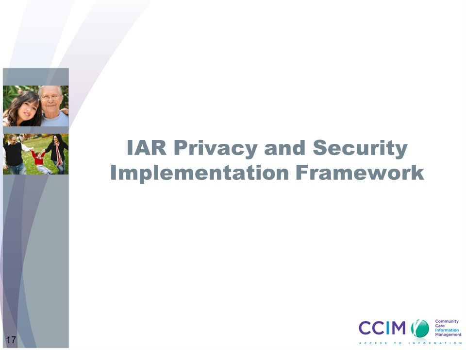 IAR Privacy and Security Implementation Framework