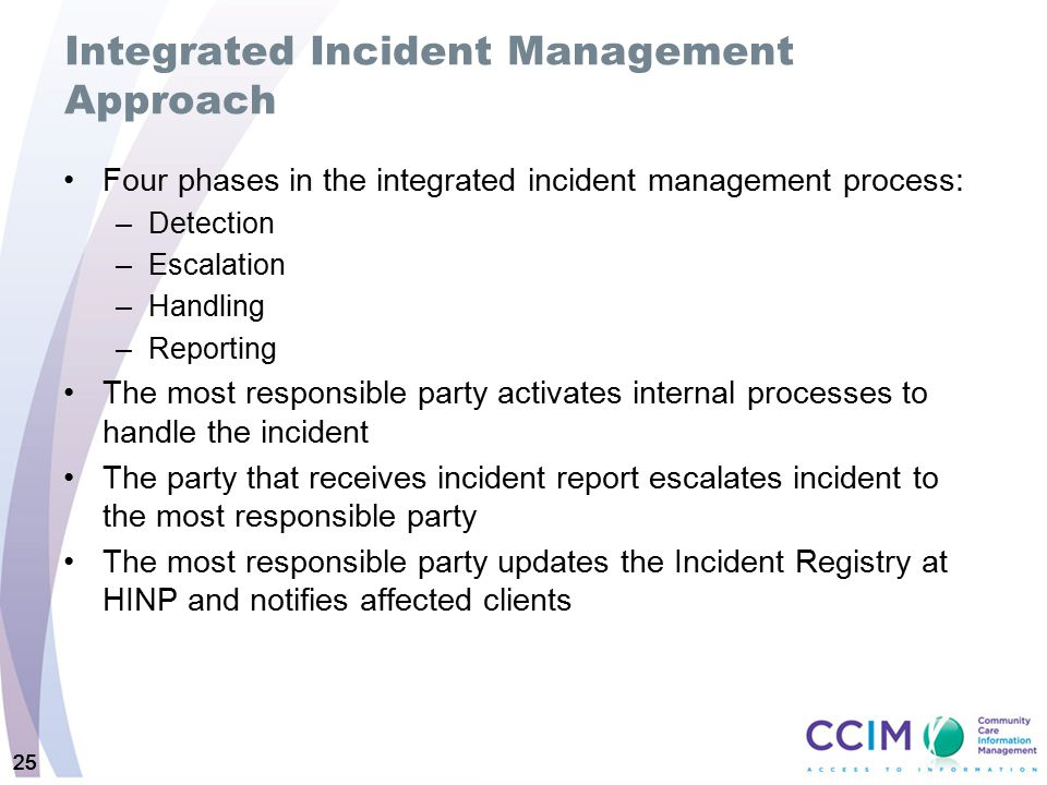 Integrated Incident Management Approach