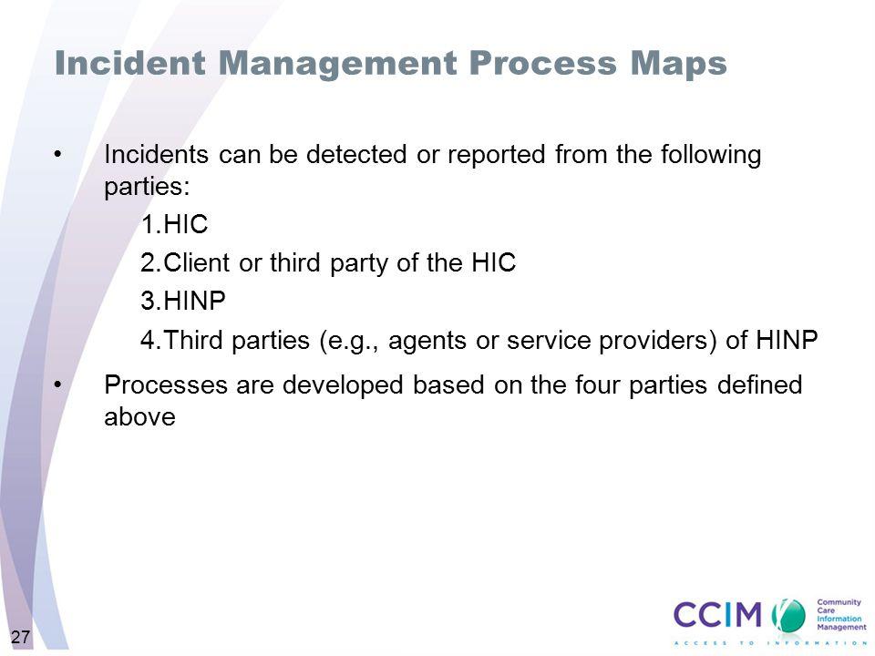 Incident Management Process Maps