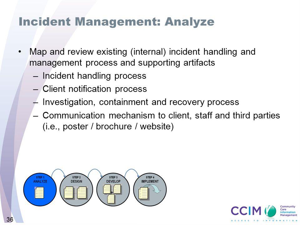Incident Management: Analyze