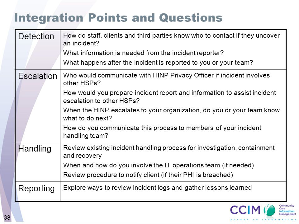 Integration Points and Questions
