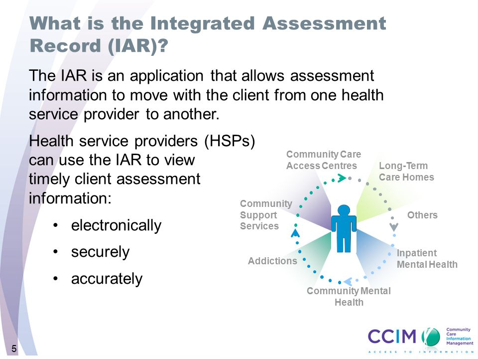 What is the Integrated Assessment Record (IAR)