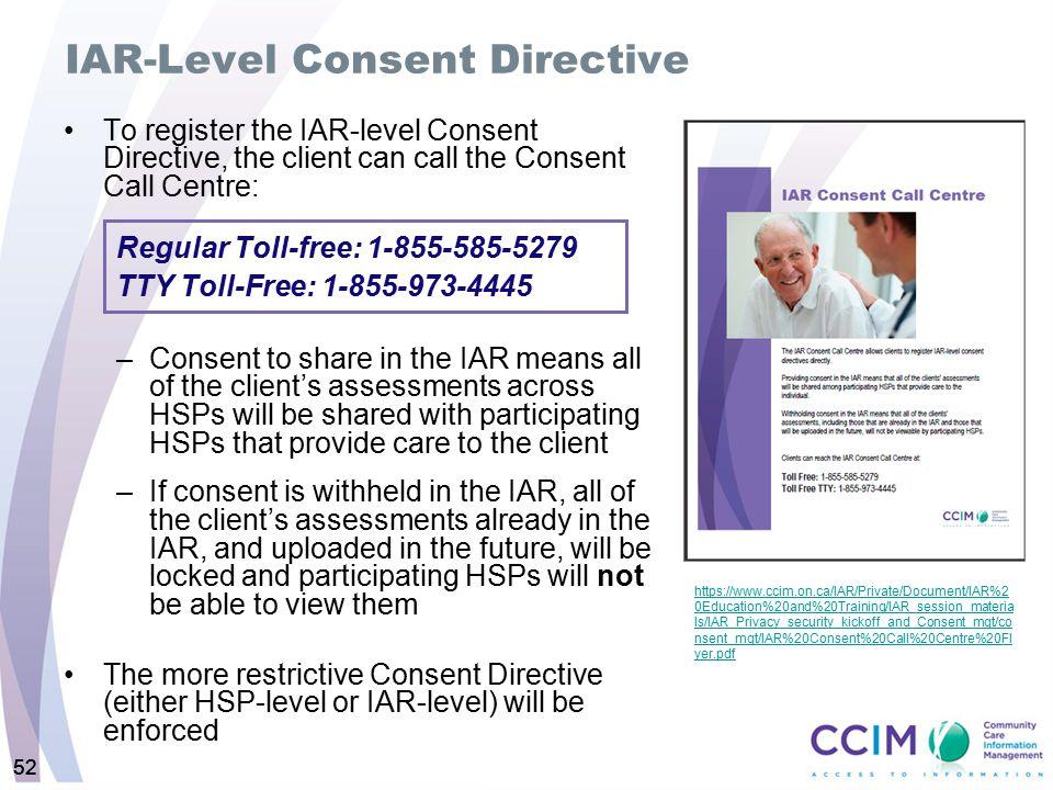 IAR-Level Consent Directive