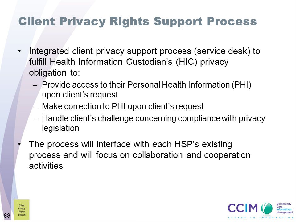 Client Privacy Rights Support Process