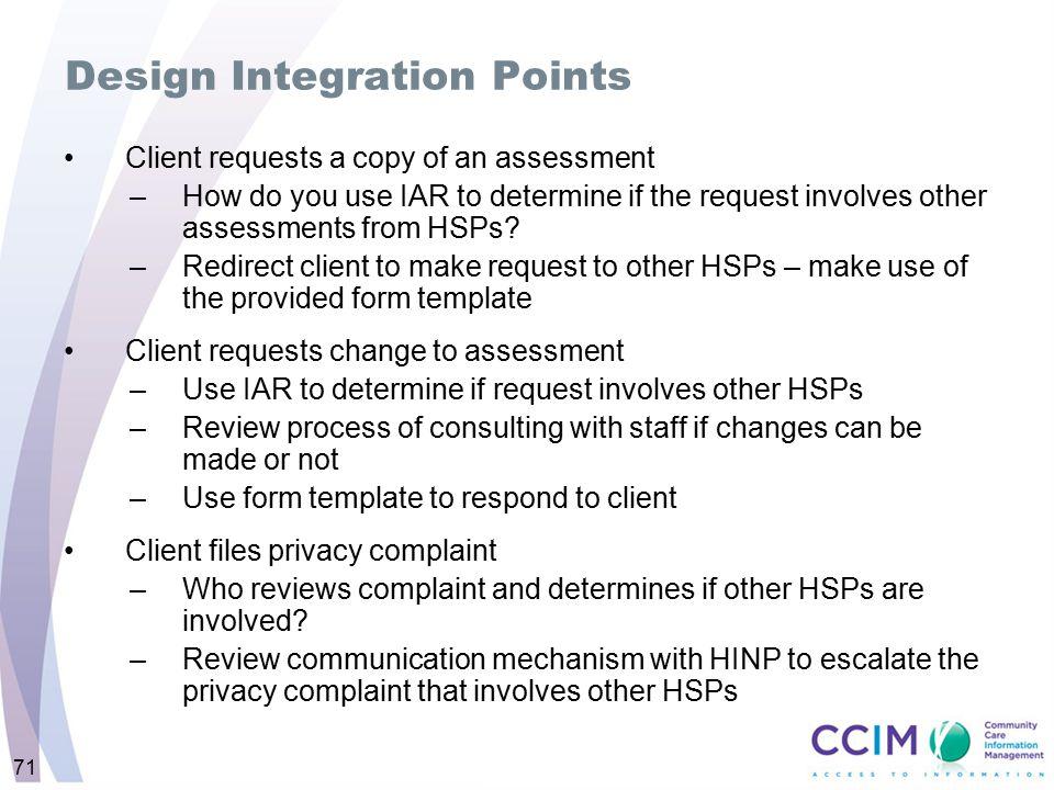Design Integration Points