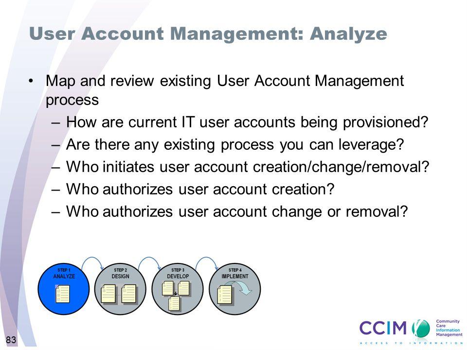 User Account Management: Analyze