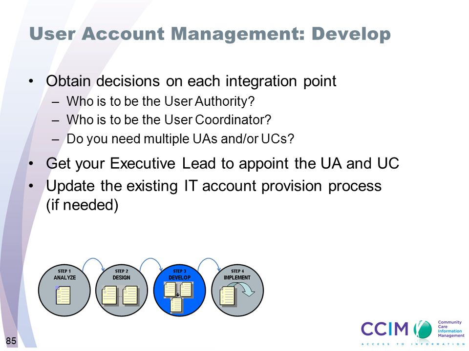 User Account Management: Develop