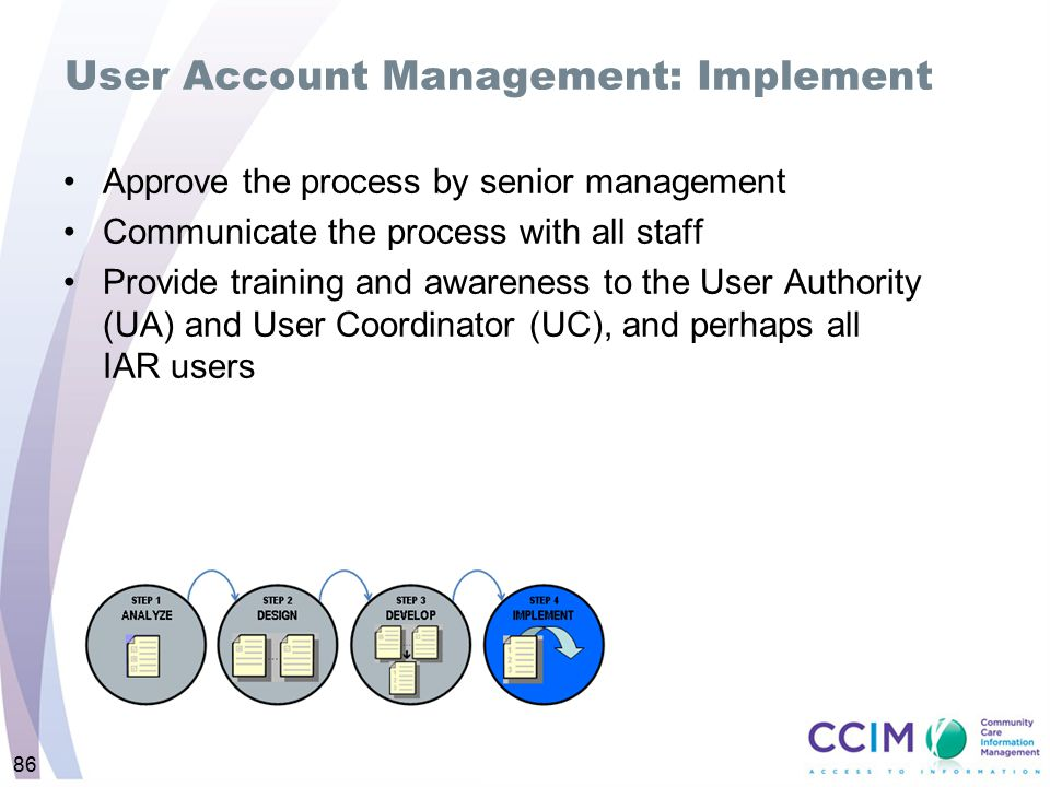User Account Management: Implement