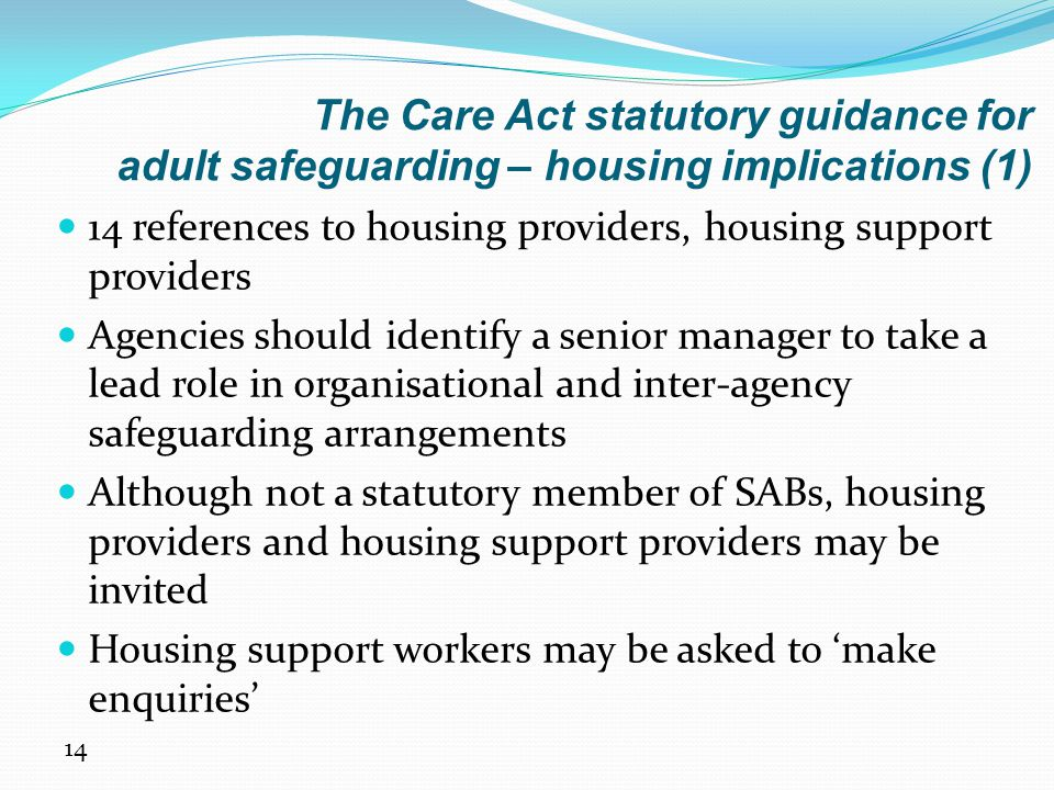 The Care Act statutory guidance for adult safeguarding – housing implications (1)