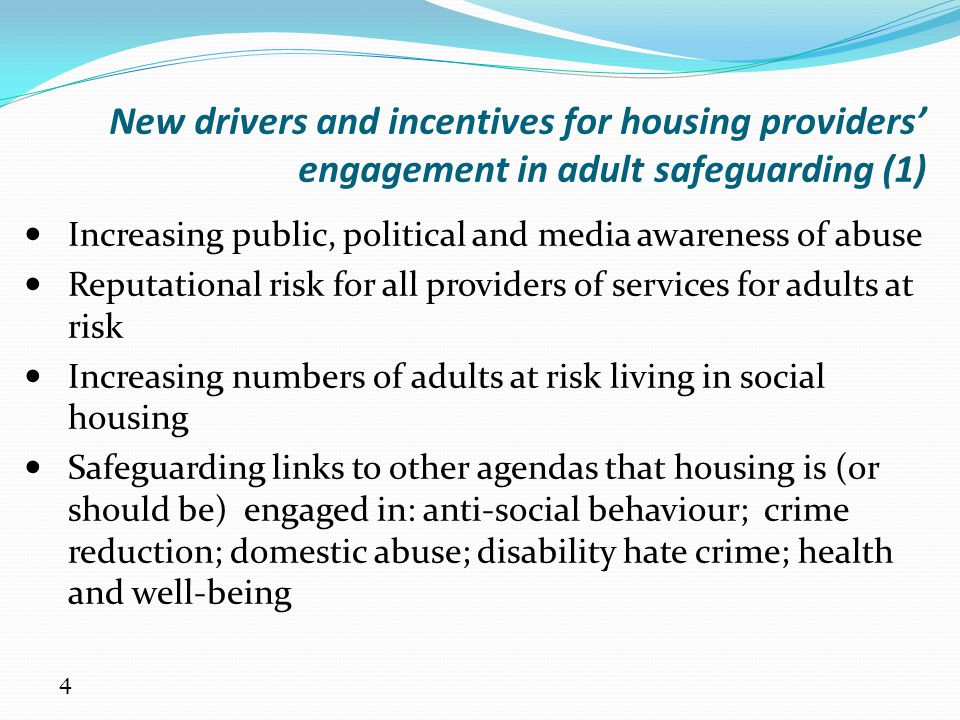 New drivers and incentives for housing providers' engagement in adult safeguarding (1)