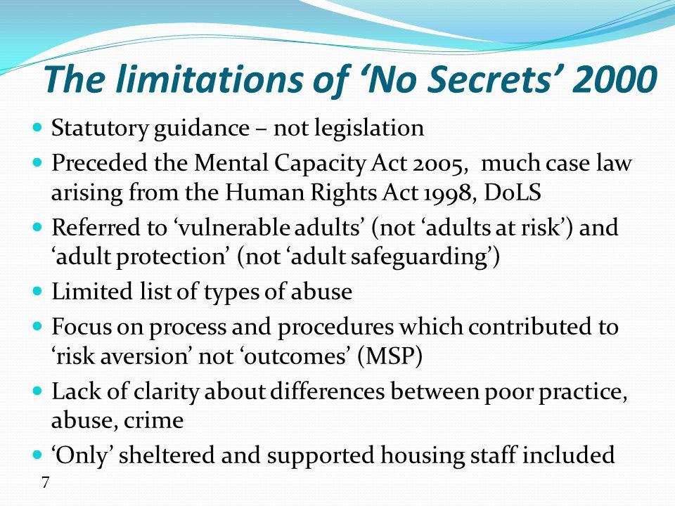 The limitations of 'No Secrets' 2000