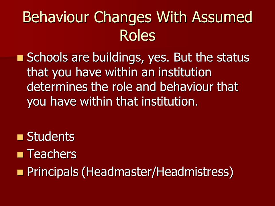 Behaviour Changes With Assumed Roles
