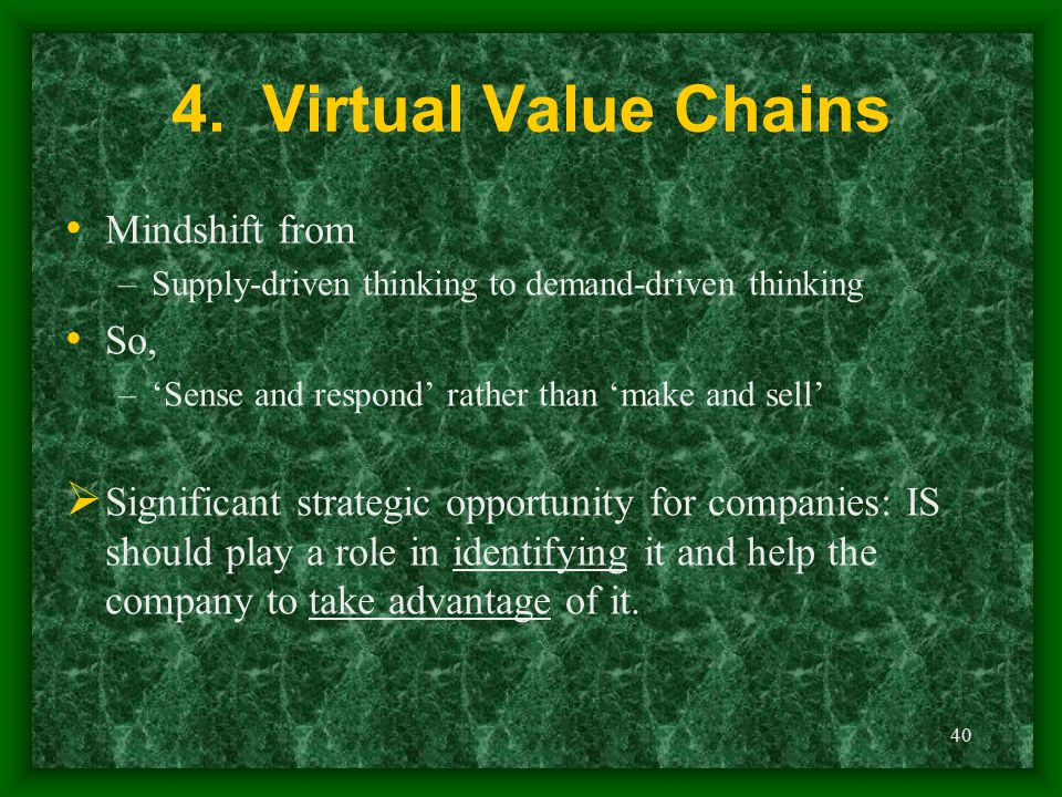 4. Virtual Value Chains Mindshift from So,
