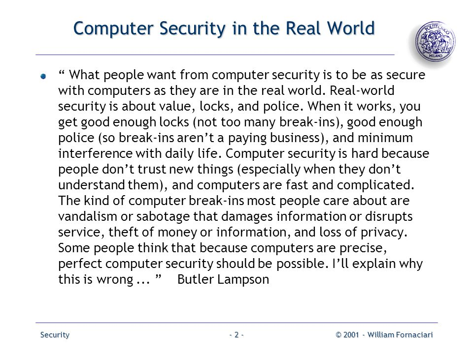 Operating systems security pack 1 ppt download Should i get a security system