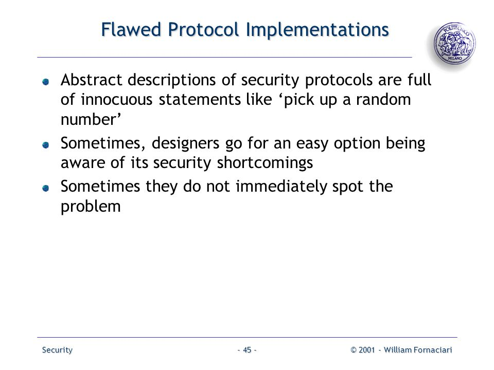 Flawed Protocol Implementations
