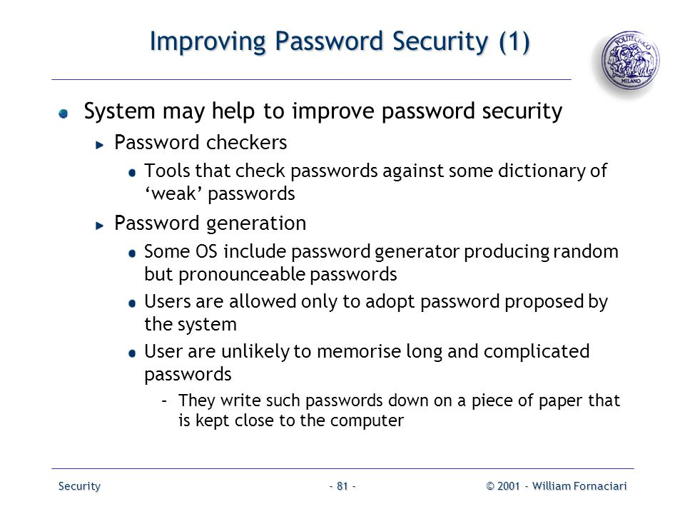 Improving Password Security (1)
