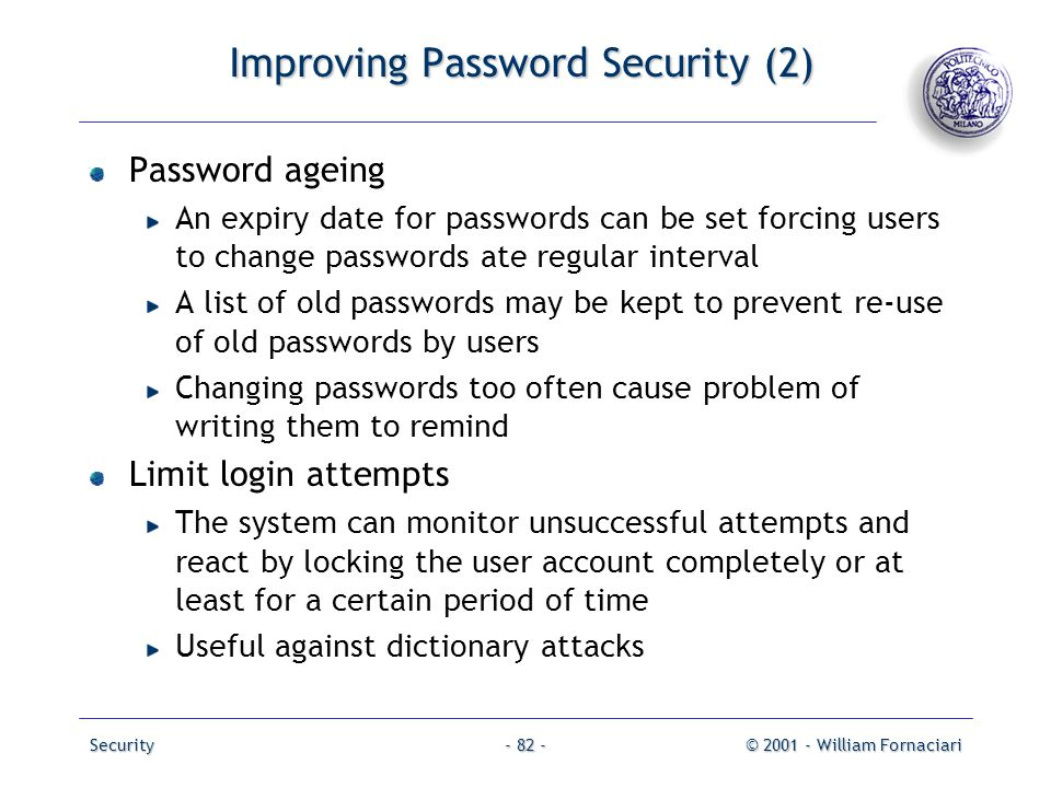 Improving Password Security (2)