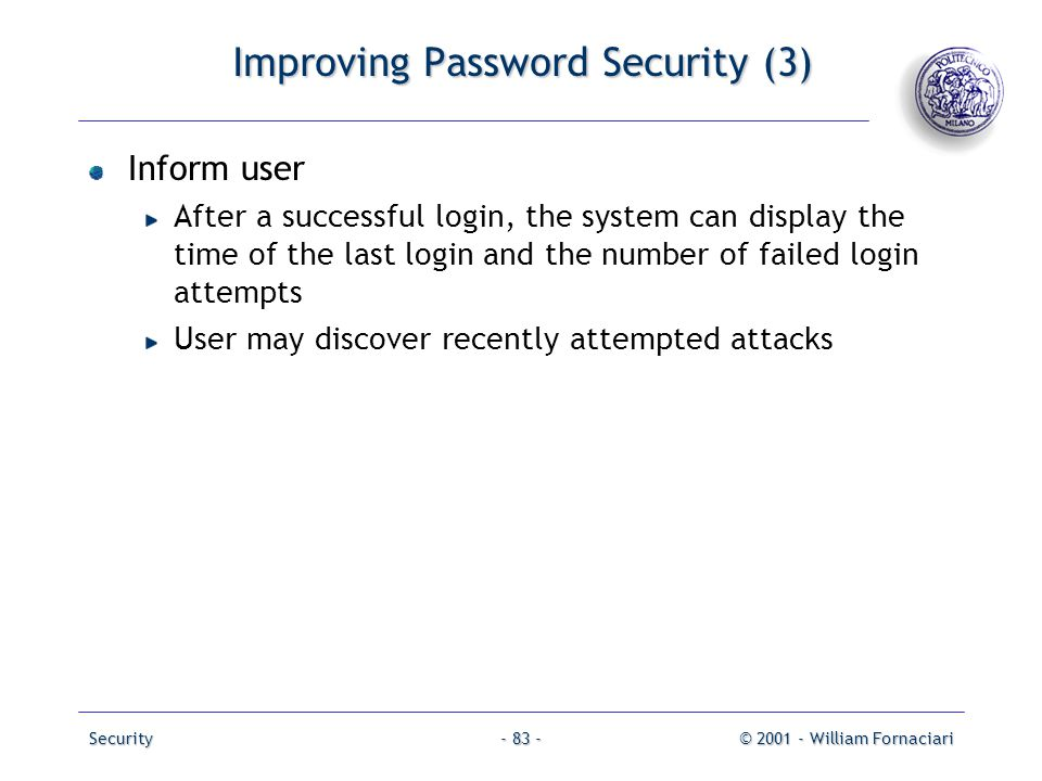 Improving Password Security (3)