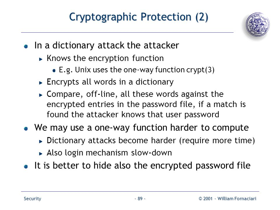 Cryptographic Protection (2)