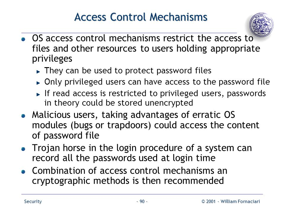 Access Control Mechanisms