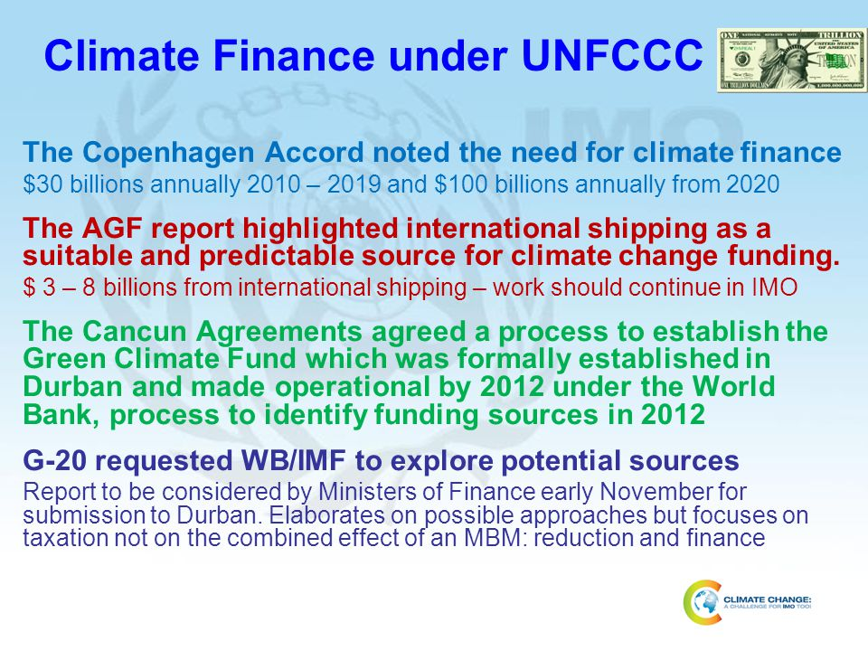 Climate Finance under UNFCCC