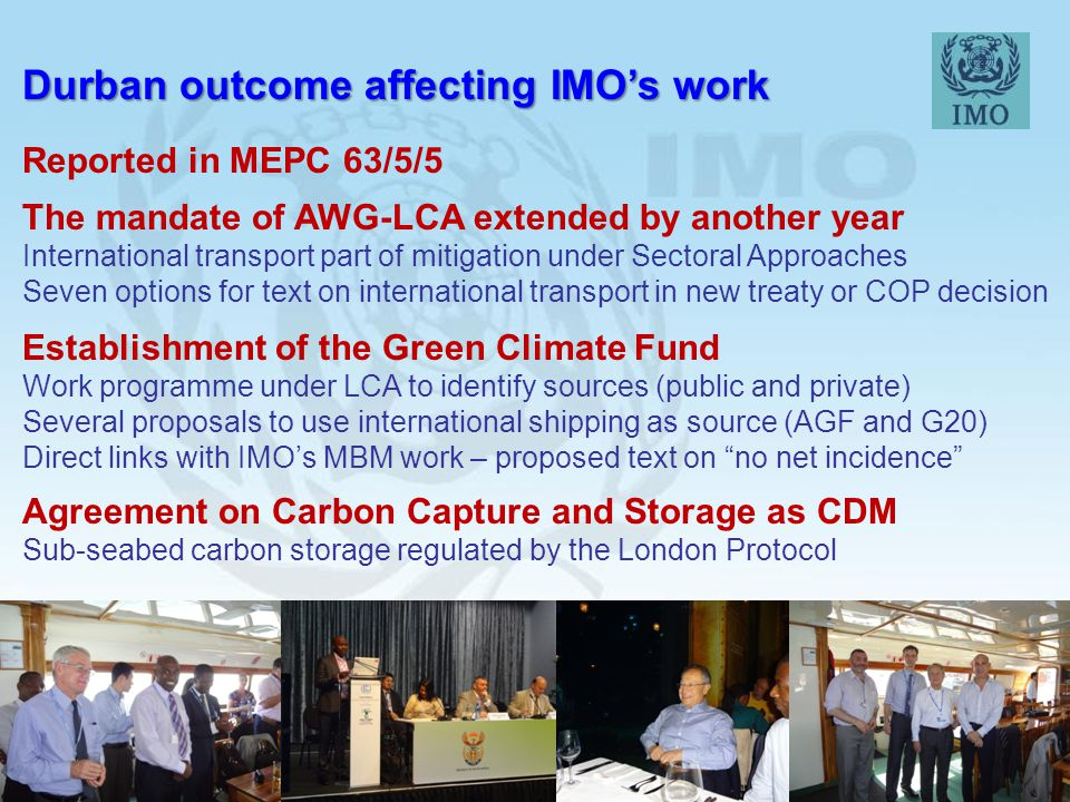 Durban outcome affecting IMO's work