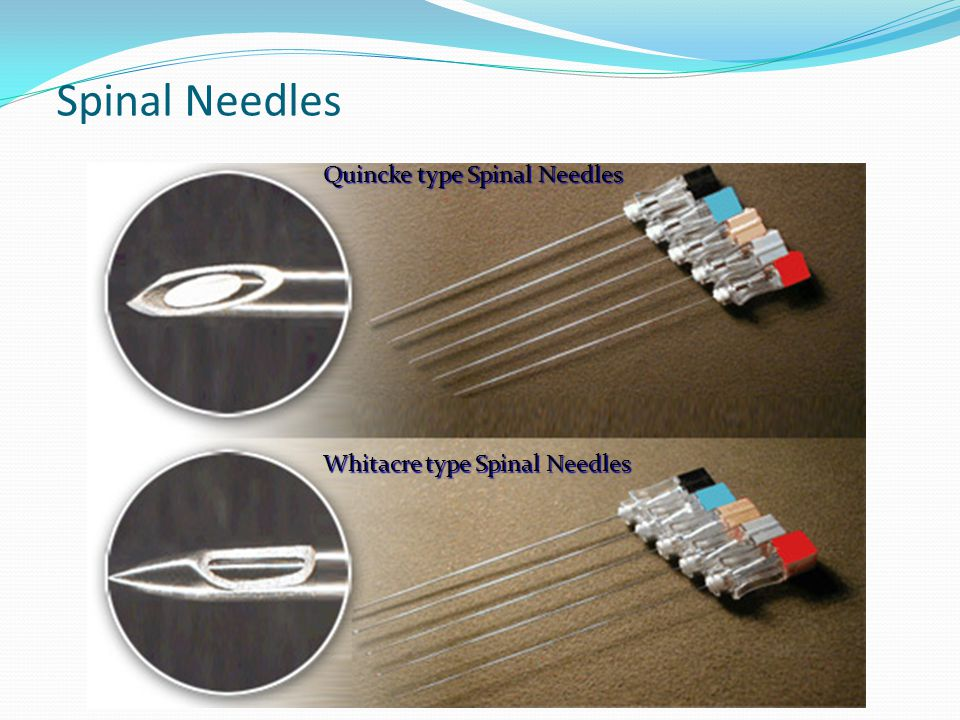 Spinal Needles Quincke type Spinal Needles
