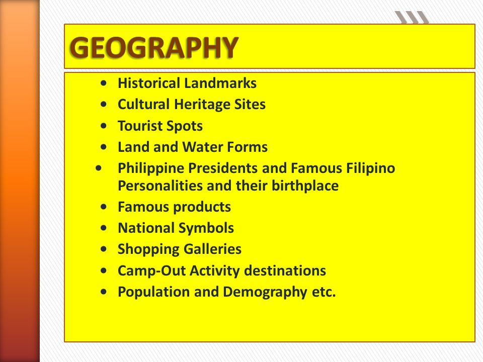 GEOGRAPHY • Historical Landmarks • Cultural Heritage Sites