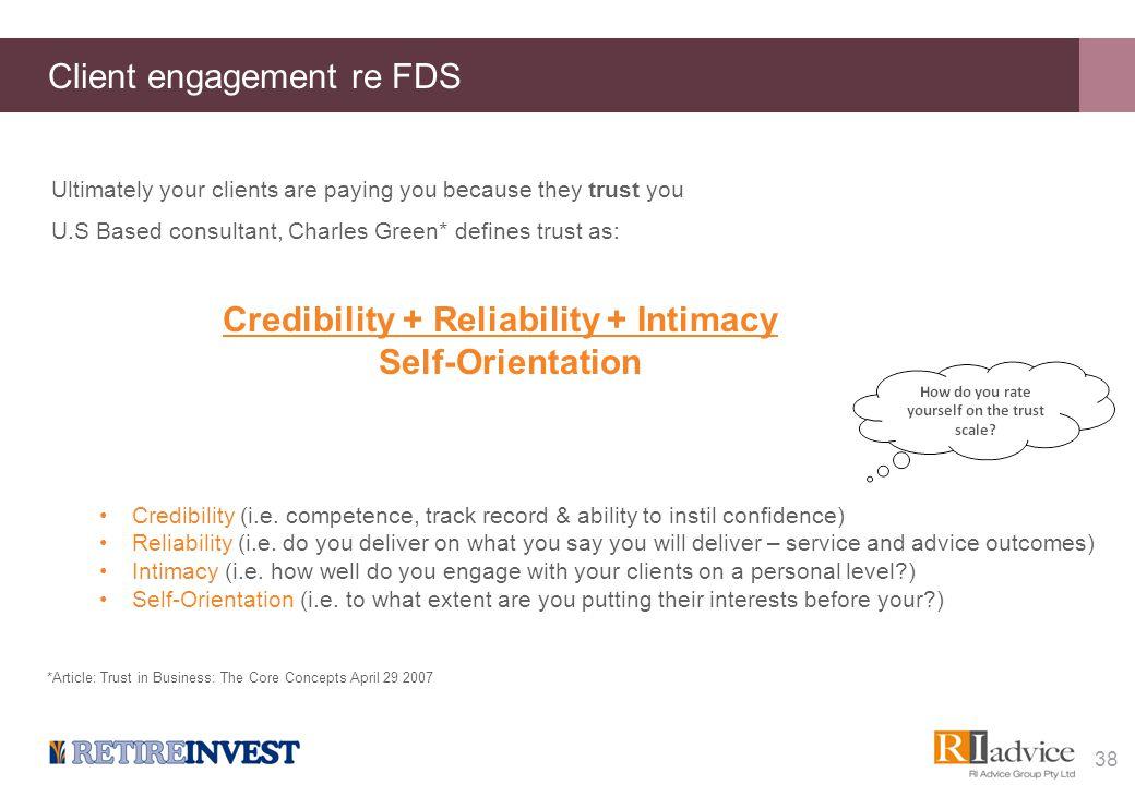 Client engagement re FDS