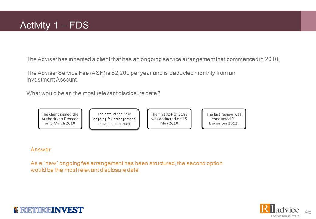 Activity 2 – FDS