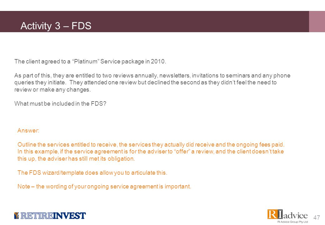 Activity 4 – FDS