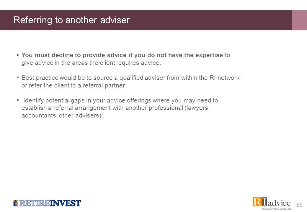 Advice records