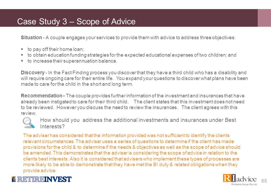 Case Study 4 – Scaled Advice