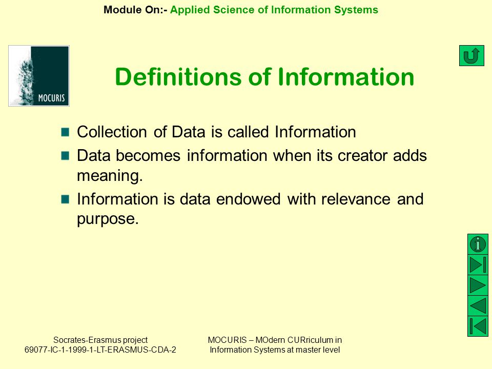 Definitions of Information