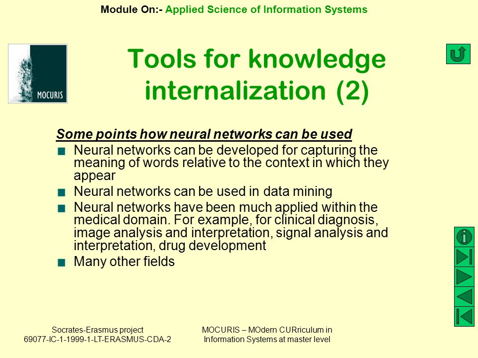 Tools for knowledge internalization (2)