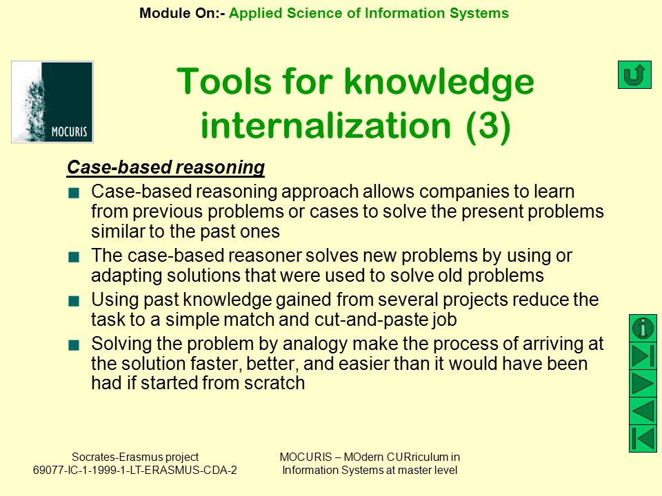Tools for knowledge internalization (3)