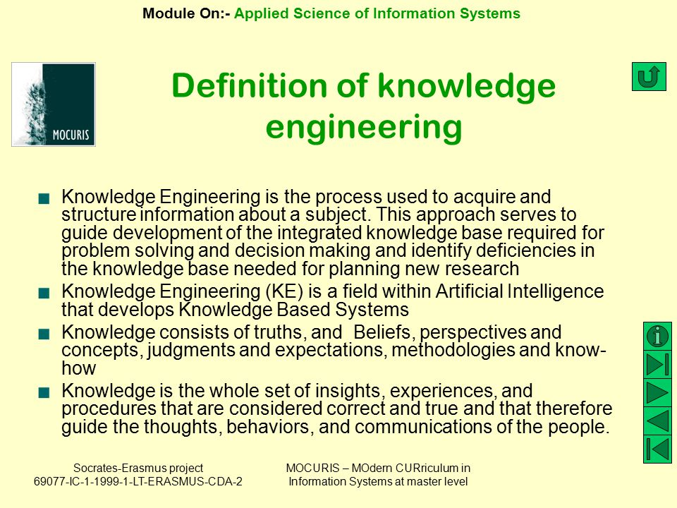 Definition of knowledge engineering