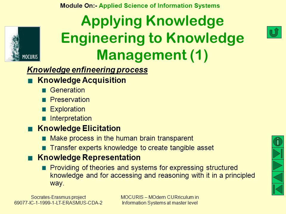 Applying Knowledge Engineering to Knowledge Management (1)