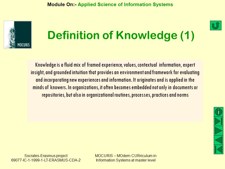 Definition of Knowledge (1)