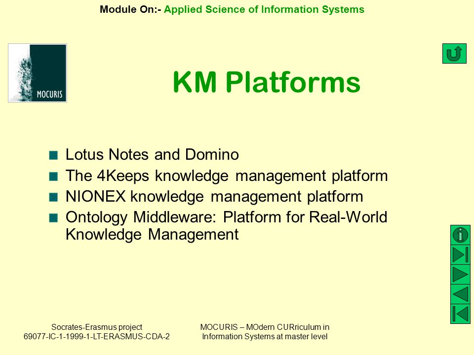KM Platforms Lotus Notes and Domino