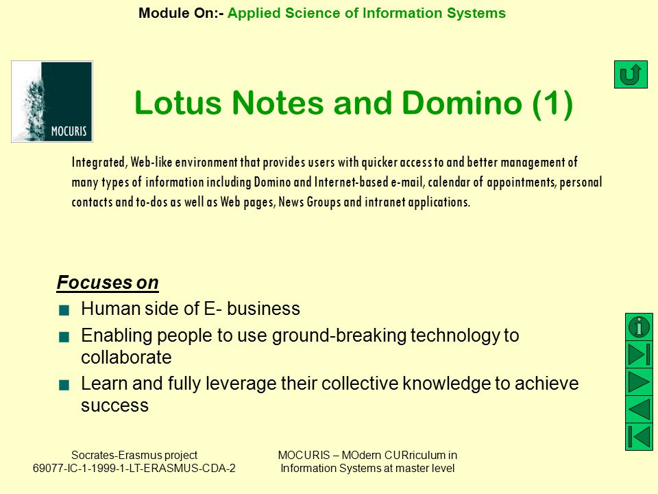 Lotus Notes and Domino (1)